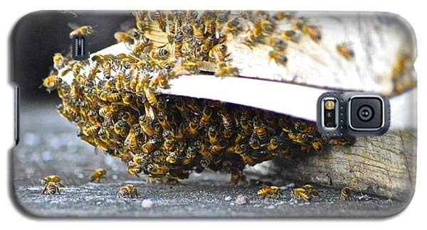 Galaxy S5 Case featuring the painting Busy Bees by Laura Forde
