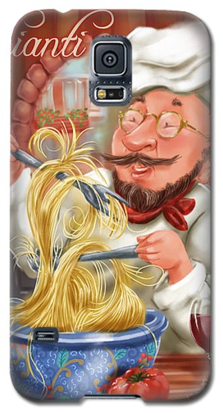 Busy Chef With Chianti Galaxy S5 Case