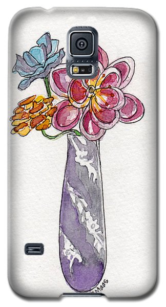 Butter Knife Vase With Flowers Galaxy S5 Case by Julie Maas
