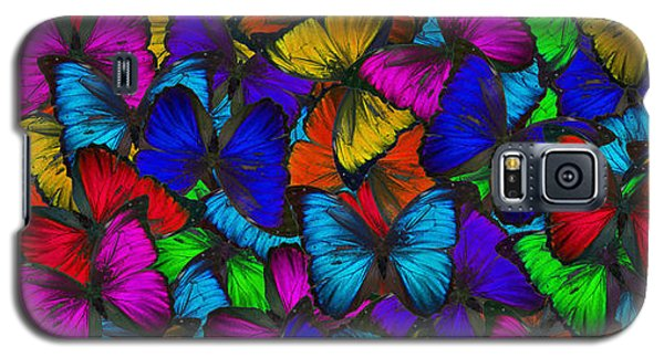 Galaxy S5 Case featuring the photograph Butterflies In Flight Panorama by Kyle Hanson