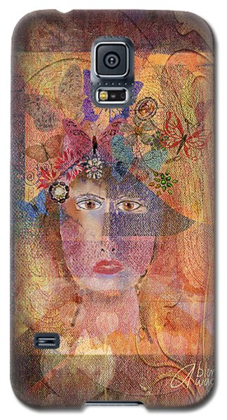 Galaxy S5 Case featuring the digital art Butterflies In Her Hair by Arline Wagner