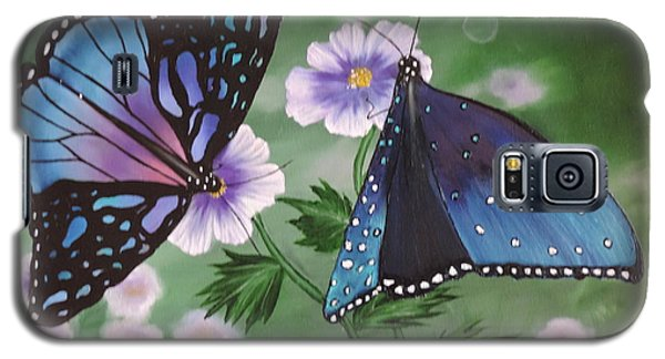 Galaxy S5 Case featuring the painting Butterfly #2 by Dianna Lewis