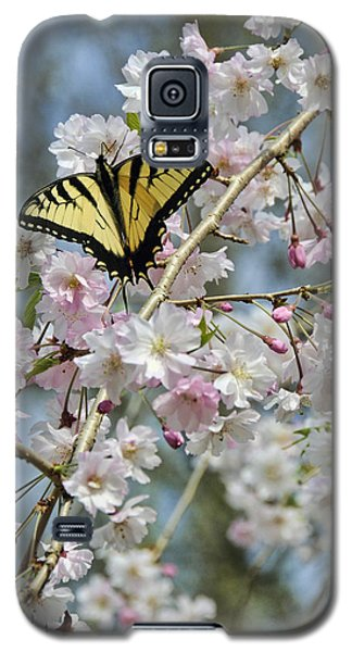 Butterfly And Blooms Galaxy S5 Case by Kenny Francis