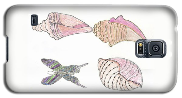 Butterfly And Seashells Galaxy S5 Case