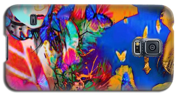Galaxy S5 Case featuring the digital art Butterfly Beauties by Diana Riukas