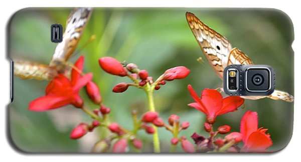 Galaxy S5 Case featuring the photograph Butterfly Besties by Carla Carson