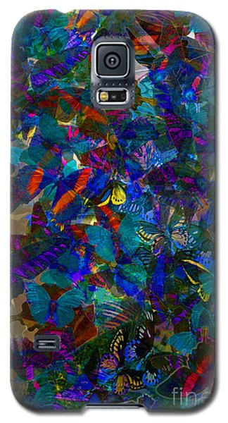 Galaxy S5 Case featuring the photograph Butterfly Collage Blue by Robert Meanor