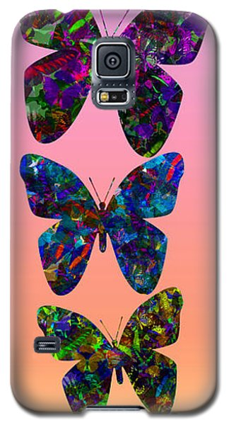 Galaxy S5 Case featuring the photograph Butterfly Collage IIII by Robert Meanor