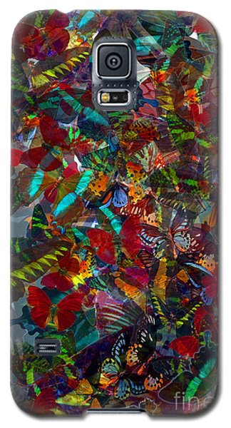 Galaxy S5 Case featuring the photograph Butterfly Collage Red by Robert Meanor