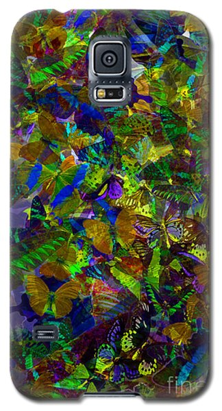 Galaxy S5 Case featuring the photograph Butterfly Collage Yellow by Robert Meanor
