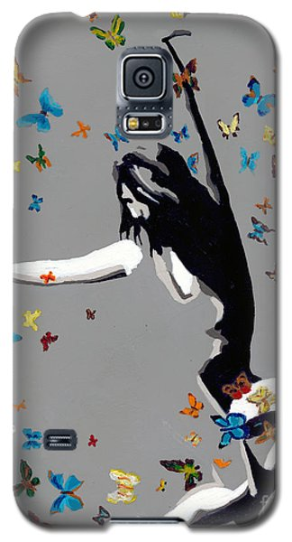 Galaxy S5 Case featuring the painting Butterfly Dance by Denise Deiloh