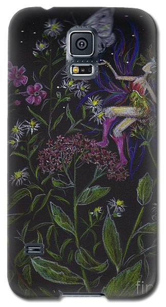 Galaxy S5 Case featuring the drawing Butterfly by Dawn Fairies