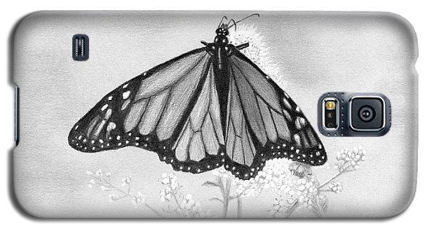 Galaxy S5 Case featuring the drawing Butterfly by Denise Deiloh