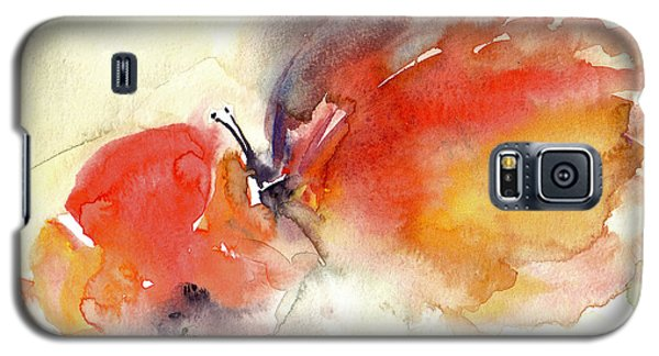 Galaxy S5 Case featuring the painting Butterfly by Faruk Koksal