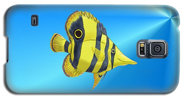 Galaxy S5 Case featuring the digital art Butterfly Fish by Chris Thomas