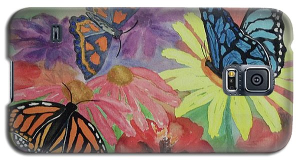 Galaxy S5 Case featuring the painting Butterfly Garden by Ellen Levinson