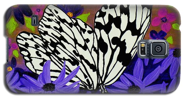 Galaxy S5 Case featuring the painting Butterfly Heaven by Celeste Manning