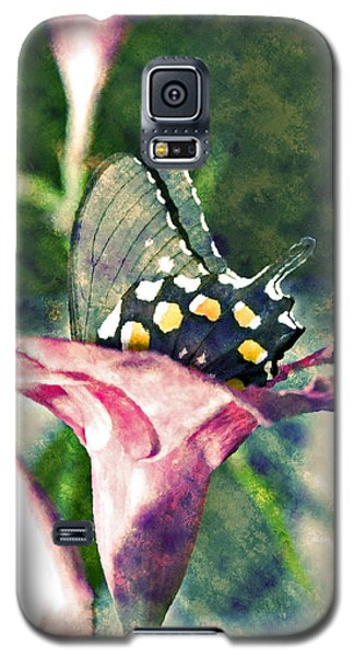 Butterfly In Flower Galaxy S5 Case
