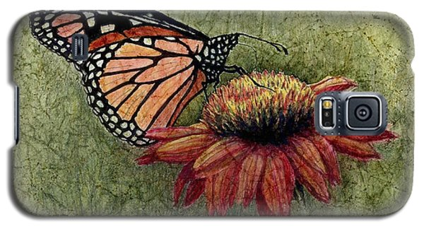Galaxy S5 Case featuring the painting Butterfly In My Garden by Janet King