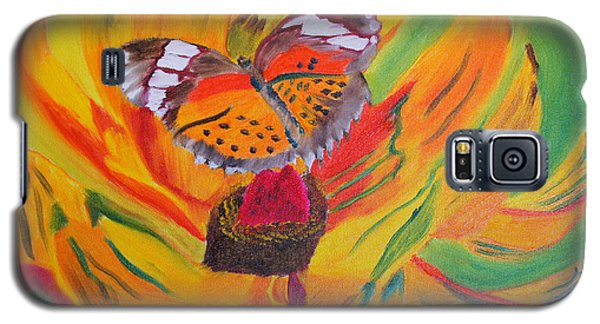 Galaxy S5 Case featuring the painting Butterfly Jungle by Meryl Goudey