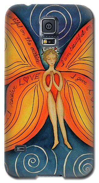 Galaxy S5 Case featuring the painting Butterfly Mantra by Deborha Kerr