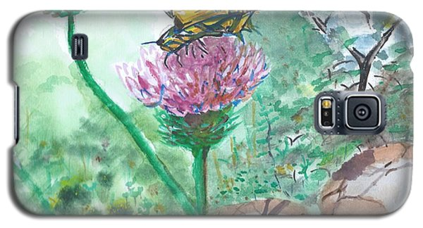 Butterfly On Flower  Galaxy S5 Case