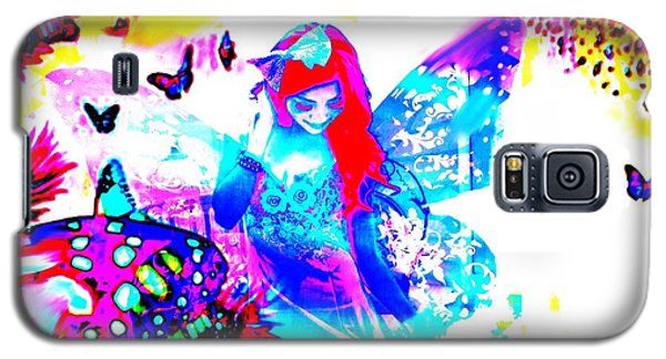 Galaxy S5 Case featuring the digital art Butterfly Princess by Diana Riukas