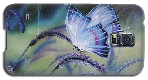 Galaxy S5 Case featuring the painting Butterfly Series #3 by Dianna Lewis