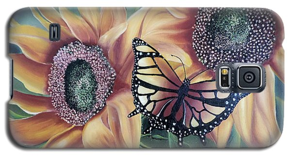 Galaxy S5 Case featuring the painting Butterfly Series 5 by Dianna Lewis