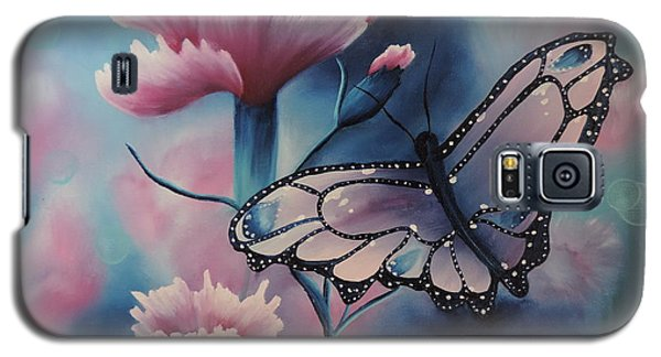 Galaxy S5 Case featuring the painting Butterfly Series 6 by Dianna Lewis