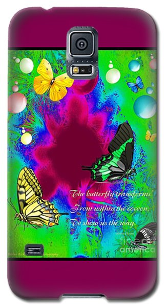 Butterfly Shows The Way Galaxy S5 Case