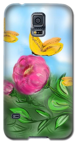 Galaxy S5 Case featuring the digital art Butterfly Triplets by Christine Fournier