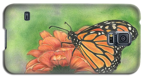 Galaxy S5 Case featuring the drawing Butterfly by Troy Levesque