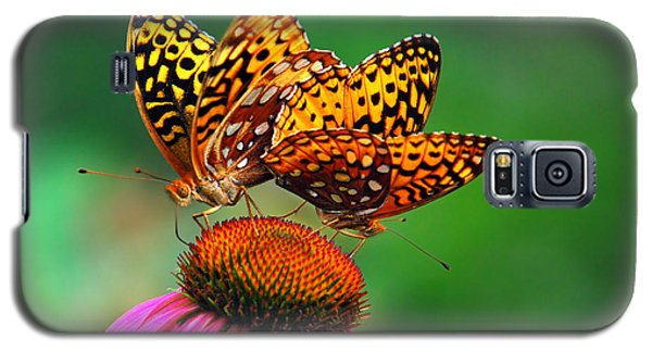 Galaxy S5 Case featuring the photograph Butterfly Twins by Christina Rollo