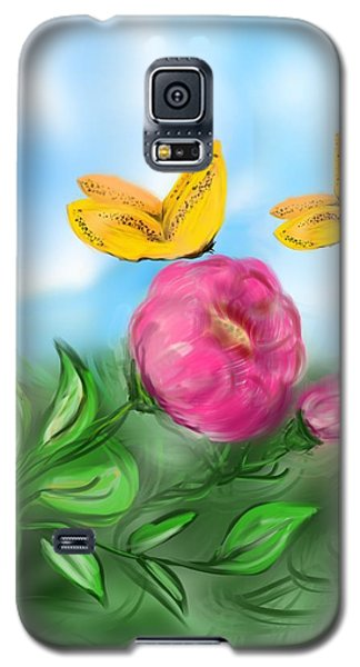 Galaxy S5 Case featuring the digital art Butterfly Twins by Christine Fournier