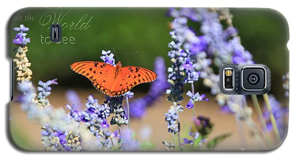 Butterfly With Message Galaxy S5 Case