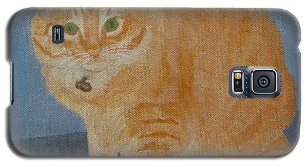 Butterscotch The Cat Galaxy S5 Case by Mini Arora