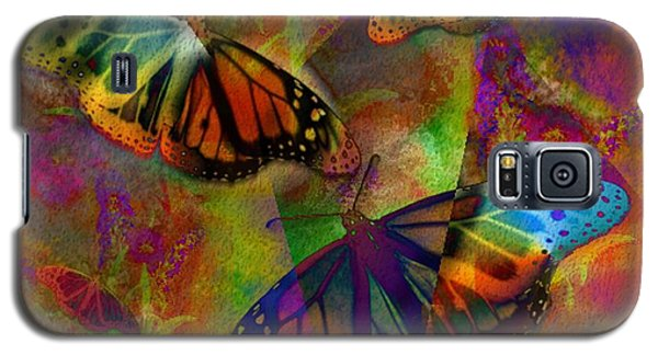 Buttrerfly Collage All About Butterflies Galaxy S5 Case by Judy Filarecki