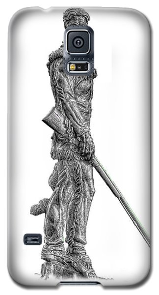 Bw Of Mountaineer Statue Galaxy S5 Case