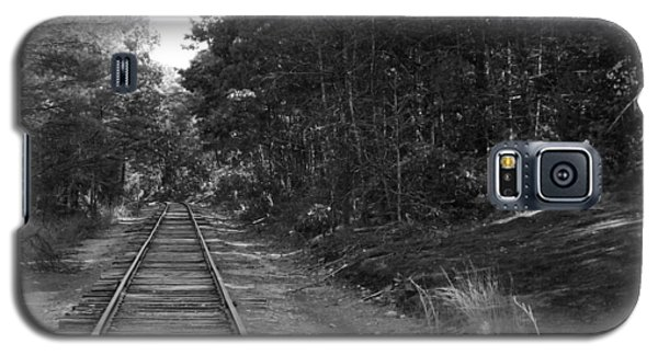Bw Railroad Track To Somewhere Galaxy S5 Case