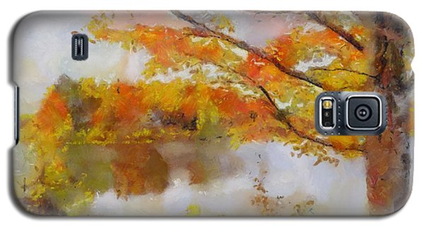 Galaxy S5 Case featuring the painting By The Lake by Wayne Pascall