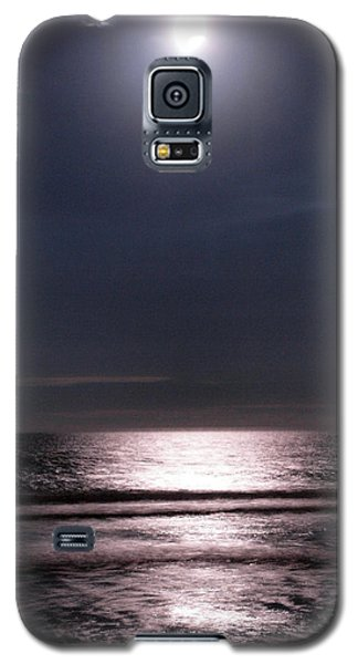 Galaxy S5 Case featuring the photograph By The Light Of The Silvery Moon by Irma BACKELANT GALLERIES
