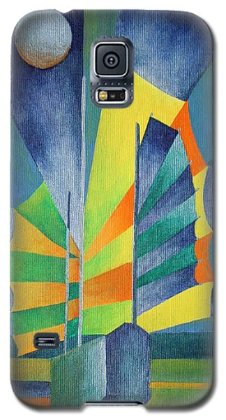 Galaxy S5 Case featuring the painting By The Light Of The Silvery Moon by Tracey Harrington-Simpson