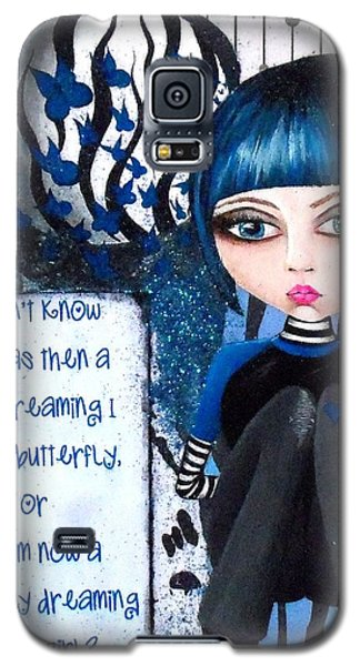 Galaxy S5 Case featuring the painting By The Moonlight by Oddball Art Co by Lizzy Love