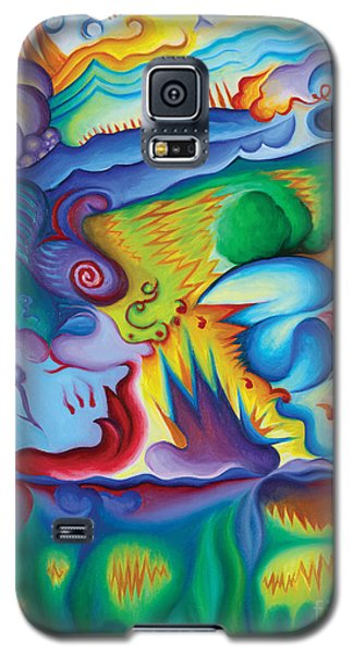 Galaxy S5 Case featuring the painting Byron Bird Orchestration by Tiffany Davis-Rustam