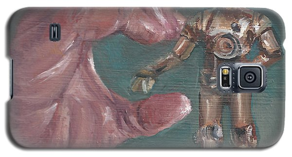 Galaxy S5 Case featuring the painting C Is For C3p0 by Jessmyne Stephenson