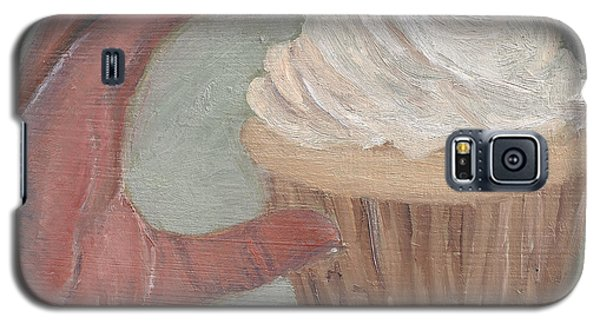 Galaxy S5 Case featuring the painting C Is For Cupcake by Jessmyne Stephenson