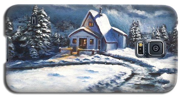 Cabin At Night Galaxy S5 Case