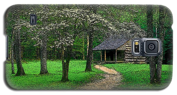 Galaxy S5 Case featuring the photograph Cabin In Cades Cove by Rodney Lee Williams