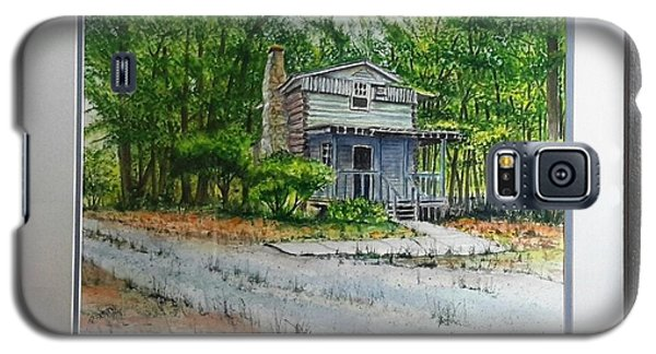 Galaxy S5 Case featuring the painting Cabin In The Woods by Richard Benson